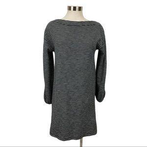 Lilla P Black & White Striped Dress Small